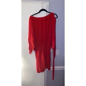 Forever 21 red dress - cold shoulder sleeves